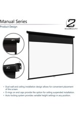 Elite Screens Elite Screens Manual Series, 150-INCH 16:9, Pull Down Manual Projector Screen with AUTO LOCK, Movie Home Theater 8K / 4K Ultra HD 3D Ready,  M150UWH2