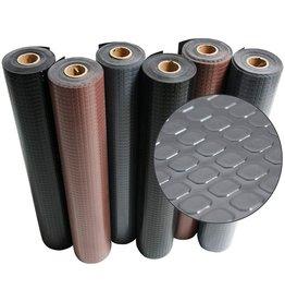 Rubber-Cal Rubber-Cal Block-Grip Rubber Runner Mat - 2mm x 4ft x 20ft Rubber Rolls - Dark Gray