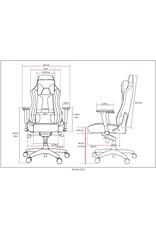 Arozzi Arozzi Vernazza Series Super Premium Gaming Racing Style Swivel Chair, Blue (VERNAZZA-BL)