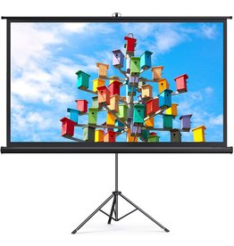 TaoTronics TaoTronics Projector Screen with Stand, 120 inch Projector Screen 4K HD with Wrinkle-Free Design, Outdoor Projector Screen for Backyard Movie Night( 1.1Gain, 4:3,160degree Viewing Angle & A Carry Bag)