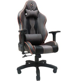 Jete Gaming Chair Racing Office Computer Game Chair Ergonomic Backrest and Seat Height Adjustment Recliner Swivel Rocker with Headrest and Lumbar Pillow E-Sports Chair (Brown)
