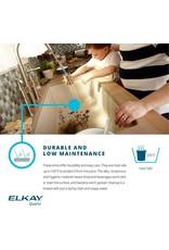 "Elkay Elkay Quartz Classic ELGHU3322RBK0C 33"" x 22"" x 10"", Offset 60/40 Double Bowl Undermount Sink Kit with Aqua Divide, Black"