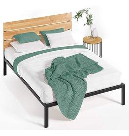 Zinus Zinus Paul Metal and Wood Platform Bed with Wood Slat Support, King,HBPBA-14K,Black
