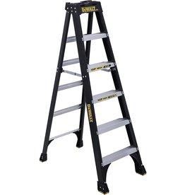 Dewalt DeWalt 6-Feet Fiberglass Stepladder, 300-Pound Duty Rating, DXL3010-06