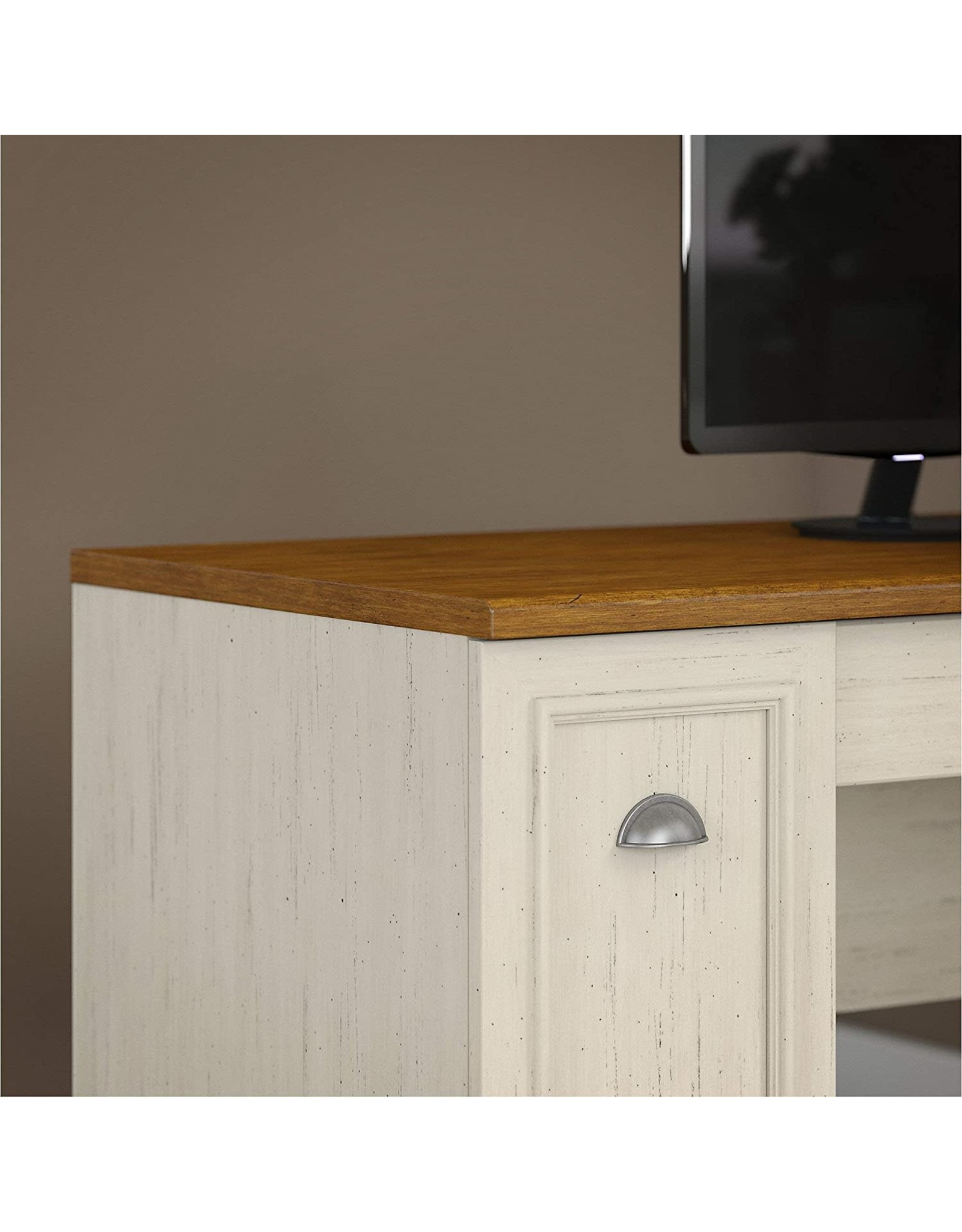 Bush Furniture Bush Furniture Fairview L Shaped Desk in Antique White