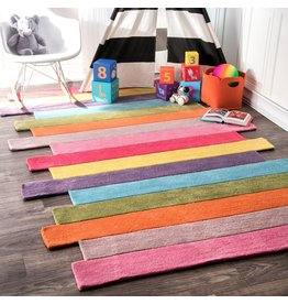 "nuLOOM nuLOOM Pantone Colorful Stripes Kids Rug, 7' 6"" x 9' 6"", Multi"