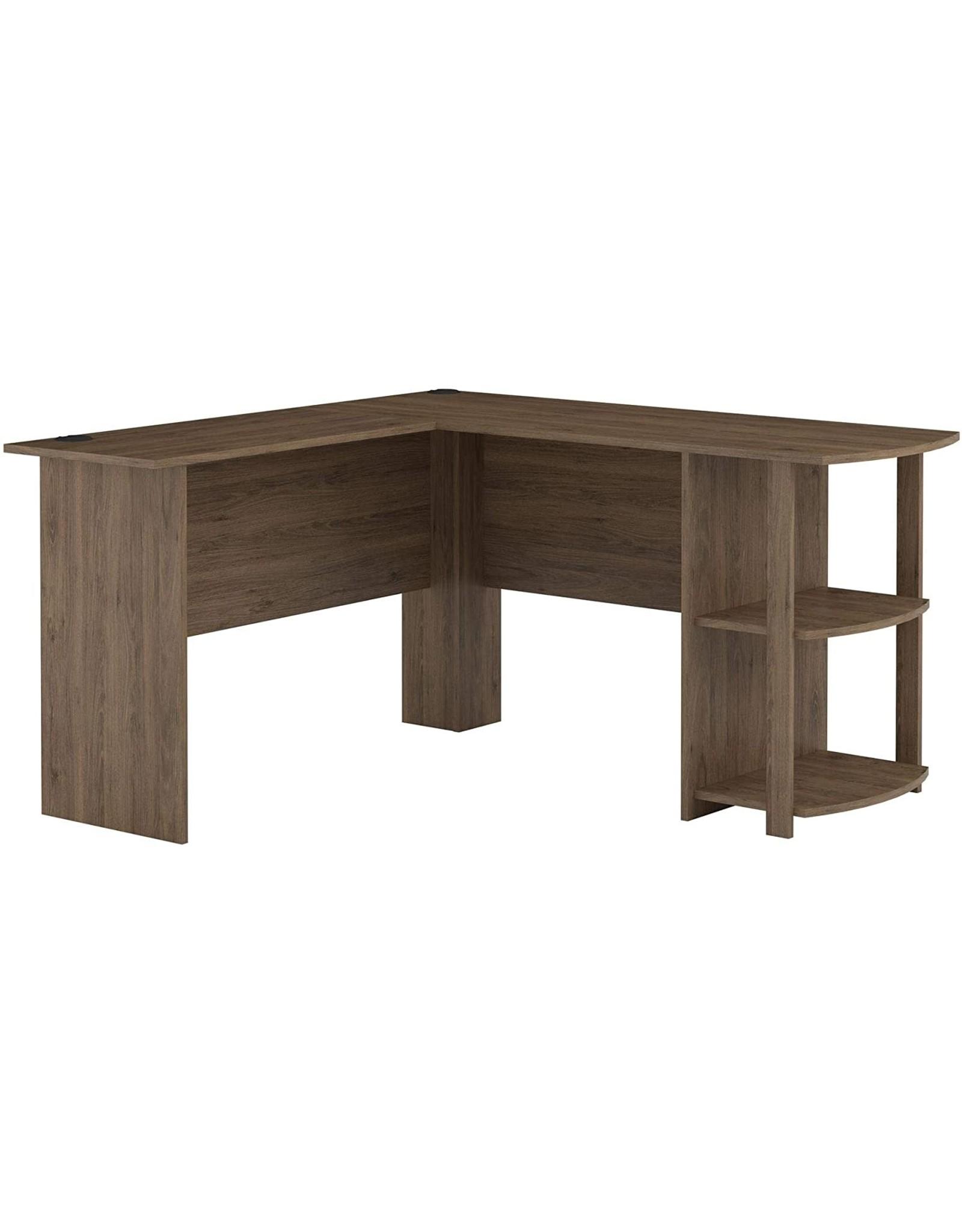 Ameriwood Home Ameriwood Home Dakota L-Shaped Desk with Bookshelves, Rustic Oak