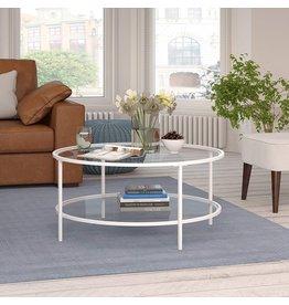 Henn&Hart Henn&Hart Round coffee table, White