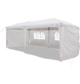 Goutime Goutime 10x20 Feet Ez Pop Up Canopy Instant Tent Shelter with 4Pcs 10Ft Removable Sidewalls for Outdoor Christmas Party Events