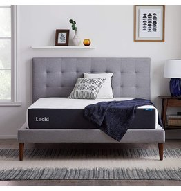 LUCID LUCID 10 Inch Memory Foam Plush Feel – Gel Infusion – Hypoallergenic Bamboo Charcoal – Breathable Cover Bed Mattress Conventional, Queen