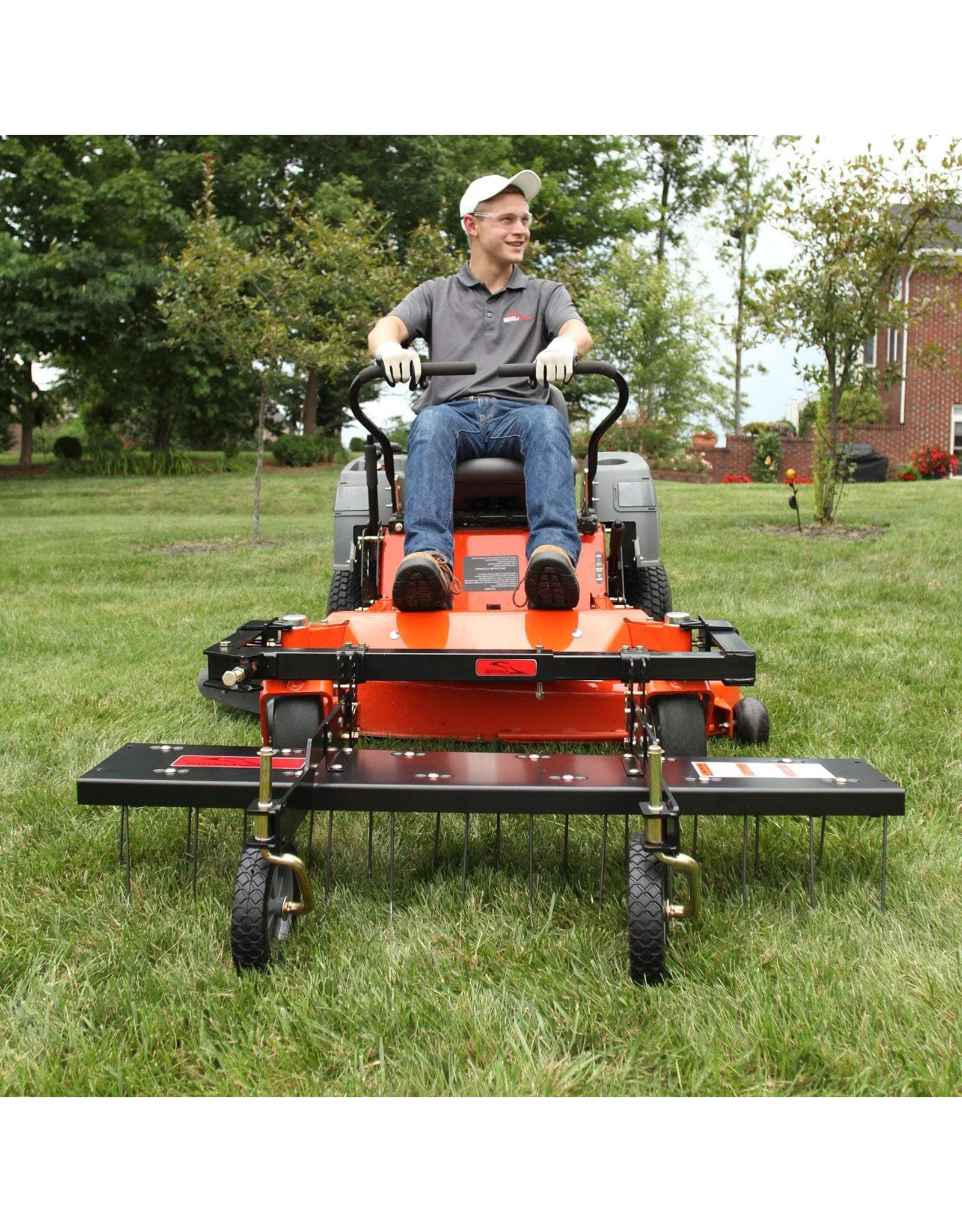 Brinly Brinly DTZ-48BH 48 in. Front-Mount Mowers ZTR dethatcher, Black