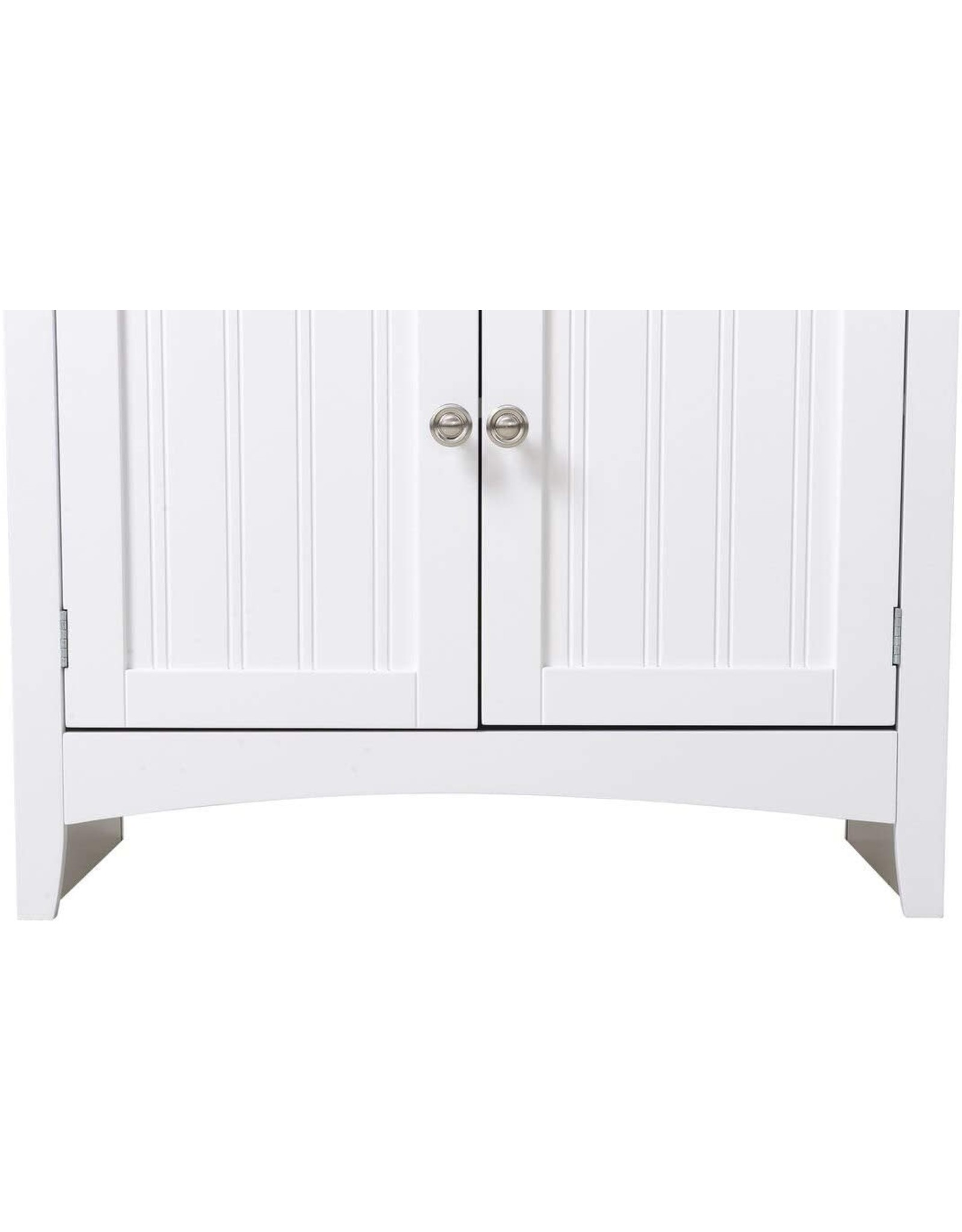American Furniture Classics American Furniture Classics OS Home and Office Buffet and Hutch with Framed Glass Doors and Drawer, Large, White
