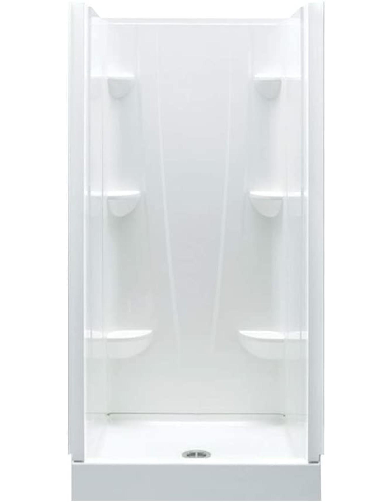 A2 A2 3636CS-136655-WC Shower Kit with Door, 36-in L x 36-in W x 76-in H, White/Chrome