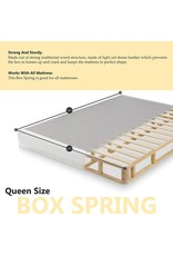 """Spinal Solution Spinal Solution Medium Plush Pillowtop Innerspring Mattress And 8"""" Wood Box Spring/Foundation Set, Queen, Size"""