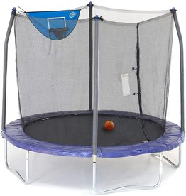 Skywalker Trampolines Skywalker Trampolines 8-Foot Jump N' Dunk Trampoline with Safety Enclosure and Basketball Hoop, Blue