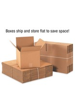 """Aviditi Aviditi 15156 Flat Corrugated Cardboard Box 15"""" L x 15"""" W x 6"""" H, Kraft, for Shipping, Packing and Moving (Pack of 25)"""