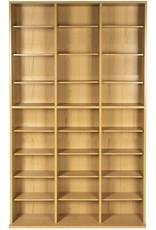 Atlantic Atlantic Oskar Adjustable Media Cabinet - Holds 756 CDs, 360 DVDs or 414 Blu-Rays/Games, 21 Adjustable and 6 Fixed Shelves PN38435712 in Maple