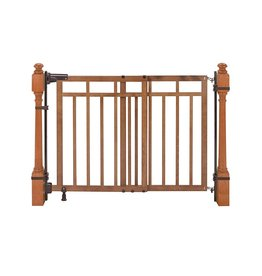Summer Summer Banister and Stair, Top of Stairs Baby Gate with Dual Installation Kit, Honey Oak Wood Finish