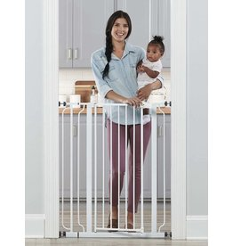 Regalo Regalo Easy Step Extra Tall Walk Thru Baby Gate, Includes 4-Inch Extension Kit, 4 Pack of Pressure Mount Kit and 4 Pack Wall Cups and Mounting Kit