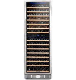 Kalamera Kalamera 157 Bottle Freestanding Wine Cooler Refrigerator With Stainless Steel, triple-layered Tempered Glass Door, Electronic One-Touch Control with LED Display Wine Fridge