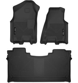 Husky Liners Husky Liners - 54608 Fits 2019-20 Dodge Ram 1500 Crew Cab with factory storage box X-act Contour Front & 2nd Seat Floor Mats