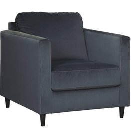 Signature Design by Ashley Signature Design by Ashley - Kennewick Contemporary Velet Accent Chair, Shadow