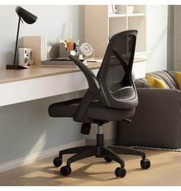 Hbada Hbada Office Task Desk Chair Swivel Home Comfort Chairs with Flip-up Arms and Adjustable Height, Black