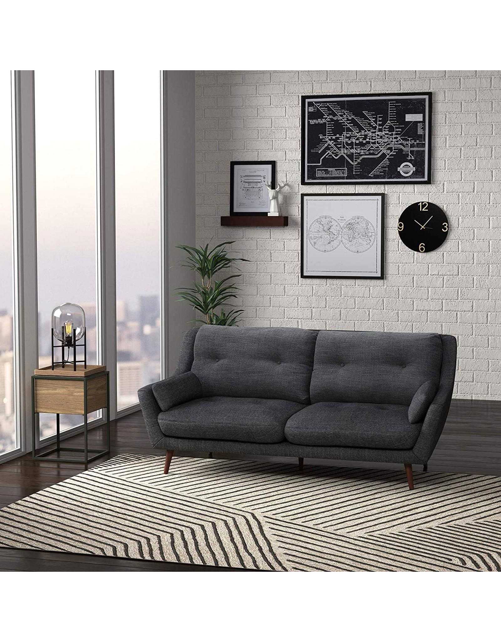 "Rivet Amazon Brand – Rivet Brooker Down-Filled Mid-Century Sofa, 76""W, Quarry Grey"