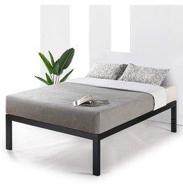 Mellow Mellow 18 inch Heavy Duty Steel Platform Beds w/Wood Slat Mattress Foundation, King, Black