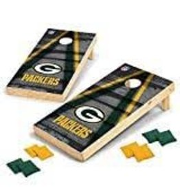Wild Sports Wild Sports 2' x 4' Wood Tournament Cornhole Set - Direct Printed - Green Bay Packers- perfect for Backyard, Beach, Park, Tailgates, Outdoors and Indoors
