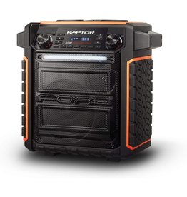 Ion ION Audio Raptor | Ultra-Portable 100-Watt Wireless Water-Resistant Speaker with 75-Hour Rechargeable Battery, Bluetooth Streaming, AM/FM Radio and Multi-Color Light Bar