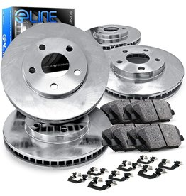 R1 Concepts For 2016-2018 Mazda CX-5 R1 Concepts Front Rear O.E Replacement Brake Rotors Kit + Ceramic Brake Pads