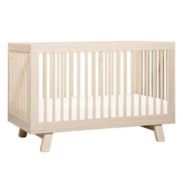babyletto Babyletto Hudson 3-in-1 Convertible Crib with Toddler Bed Conversion Kit in Washed Natural, Greenguard Gold Certified