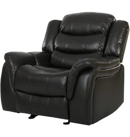 Christopher Knight Home Great Deal Furniture Merit Black Leather Recliner/Glider Chair
