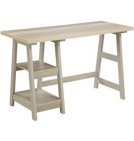 Convenience Concepts Convenience Concepts Designs2Go Trestle Desk, Weathered White