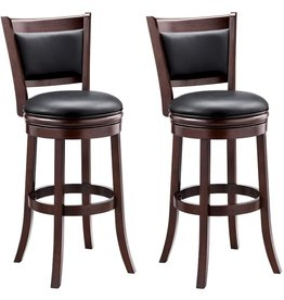 Ball & Cast Ball & Cast Barstool, 29-Inch,2-Pack, Cappuccino