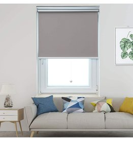 Allesin Allesin Cordless Roller Shades Blinds Spring Blackout Thermal Gray 31 x 72 Inch Cordless Privacy Room Darkening Window Shade Blind Kit with Spring System for Windows