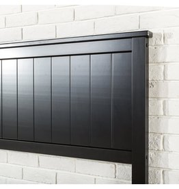 Zinus Zinus Santiago Wood Cottage Style Platform Bed with Headboard / No Box Spring Needed / Wood Slat Support - Queen,OLB-SWPBHT-12Q,Black