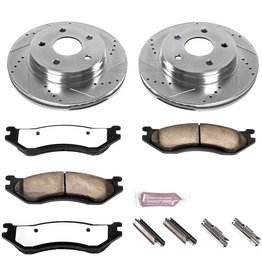 Power Stop Power Stop K2167-36 Front Z36 Truck & Tow Brake Kit, Carbon Fiber Ceramic Brake Pads and Drilled/Slotted Brake Rotors