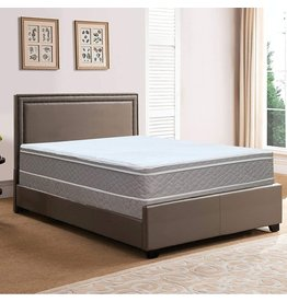 Spring Solution Spring Solution Medium Plush 10-Inch Eurotop Pillowtop Innerspring Fully Assembled Mattress, Good For The Back, Queen Size