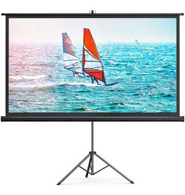 TaoTronics TaoTronics Projector Screen with Stand,Indoor Outdoor PVC Projection Screen 4K HD 100'' 16: 9 Wrinkle-Free Design(Easy to Clean, 1.1Gain, 160° Viewing Angle & Includes a Carry Bag) for Movie, Meeting