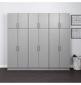 "Prepac Prepac Elite 32"" Stackable Wall Cabinet, Elite 32"" Stackable Wall Cabinet, Light Gray"