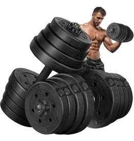 MOVTOTOP MOVTOTOP Adjustable Dumbbells Set 5/10/15/20/33/44/66 lbs, Solid&Non-Slip Weights Dumbbells with Easy-Adjusting Hexagon Nut-Safe for Men and Women Gym Home Workout Training