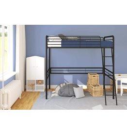 DHP DHP Simple Metal Loft Bed Frame, Multifunctional, Twin Size, Black