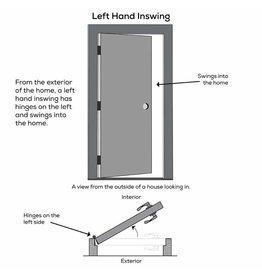 "National Door Company National Door Company ZZ00724L Steel Primed, Left Hand in-Swing, Prehung Front Door, Full Lite, Clear Low-E Glass, 30"" x 80"""