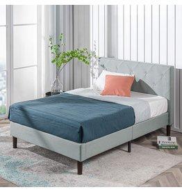 Zinus ZINUS Shalini Upholstered Platform Bed Frame / Mattress Foundation / Wood Slat Support / No Box Spring Needed / Easy Assembly, Sage Grey, King