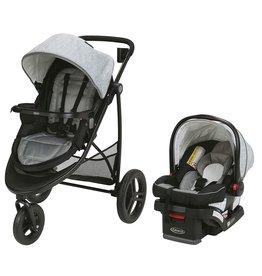 Graco Graco Modes 3 Essentials LX Travel System | Includes Modes 3 Essentials LX Stroller and SnugRide SnugLock 30 Infant Car Seat, Mullaly