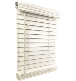 """US Window And Floor US Window And Floor 2"""" Faux Wood 71.5"""" W x 48"""" H, Inside Mount Cordless Blinds, 71.5 x 48, White"""