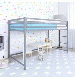DHP DHP Miles Metal Junior Twin Loft Bed, Silver