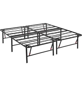"Amazon Basics Amazon Basics Foldable, 18"" Metal Platform Bed Frame with Tool-Free Assembly, No Box Spring Needed - King"